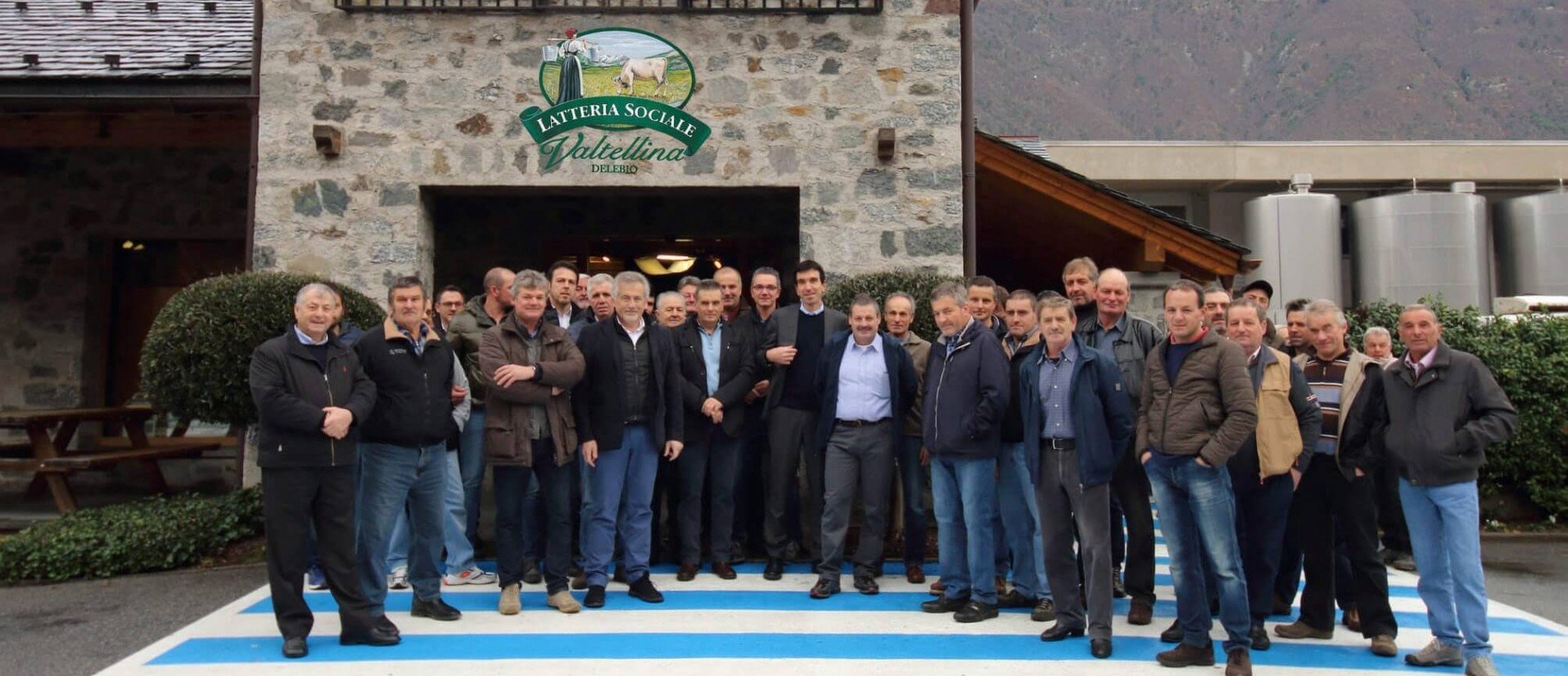 Aggregazione dei soci agricoli presso la latteria Valtellina