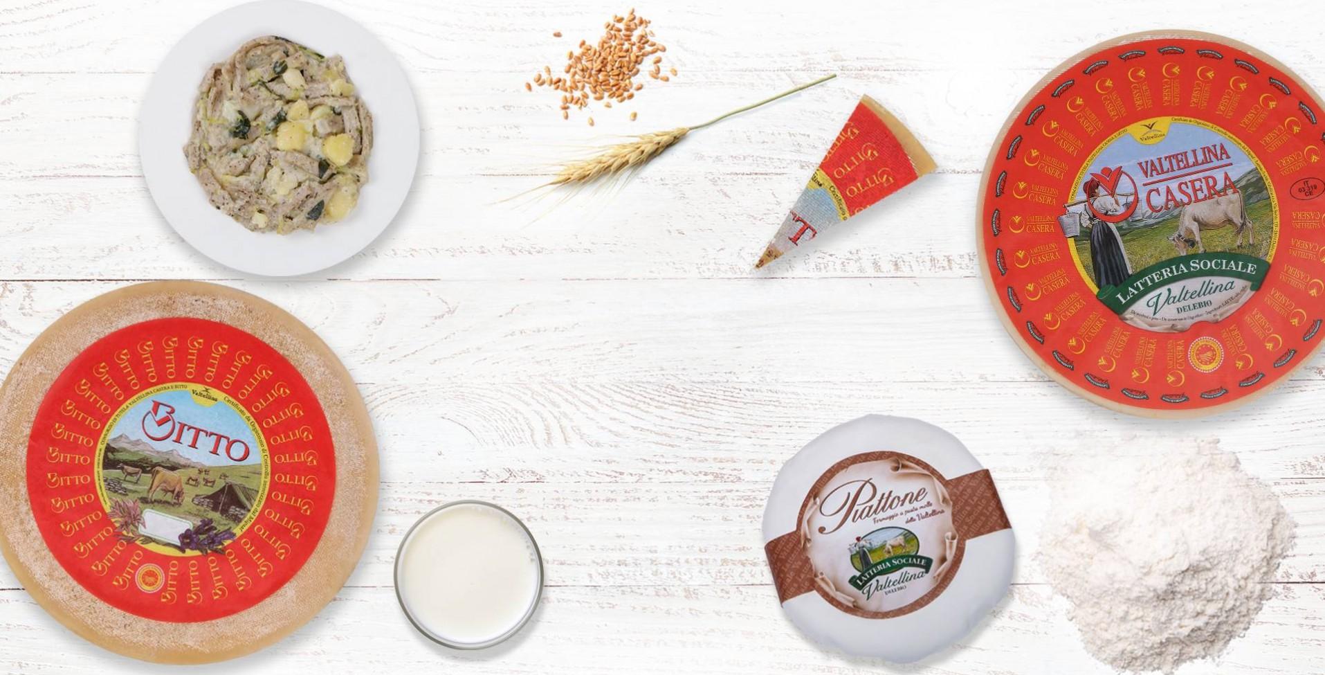 ricette con latte e formaggi della latteria valtellina