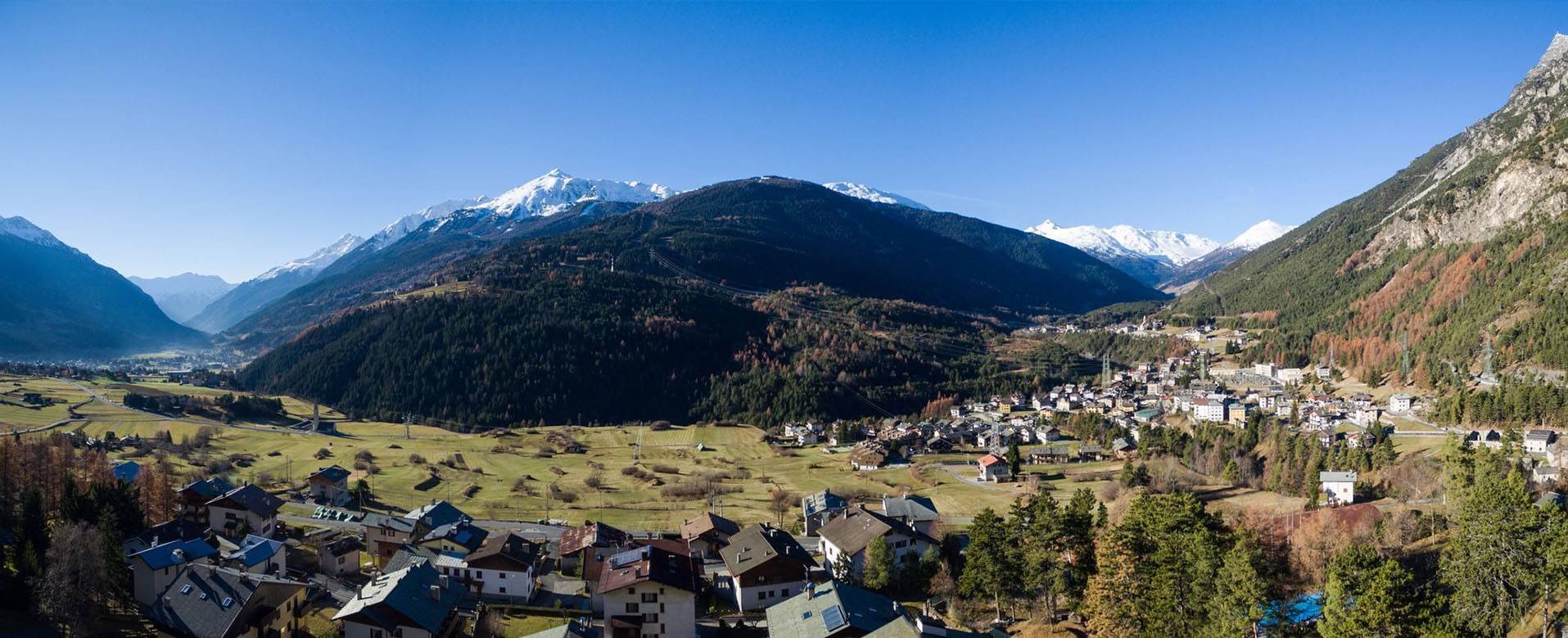panoramica della Valtellina