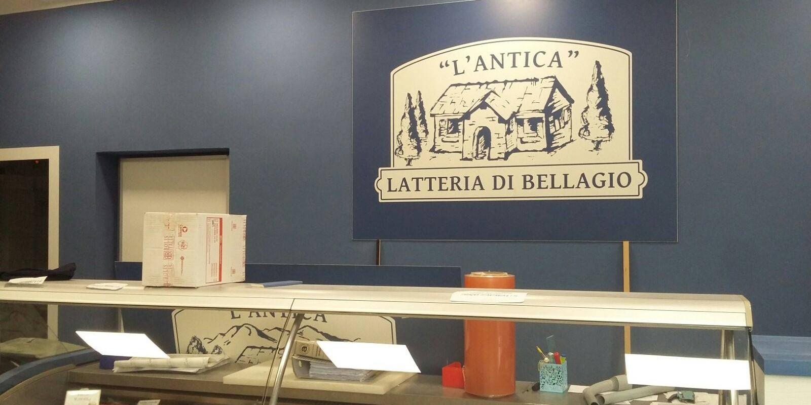 Antica Latteria Bellagio: il banco dei prodotti caseari
