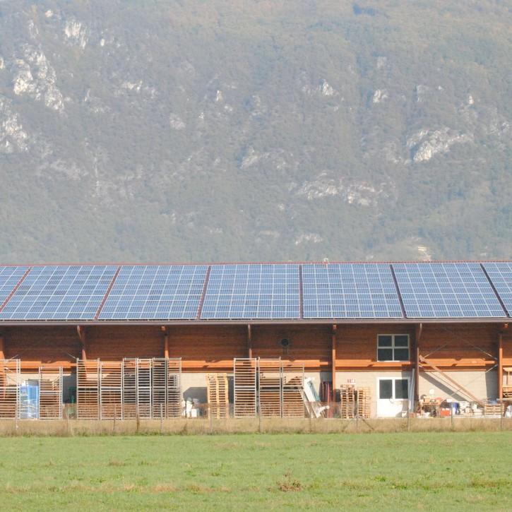 Nuovo impianto fotovoltaico della Latteria Valtellinese